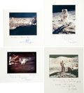 Autographs:Celebrities, Apollo Moonwalkers: Twelve Individual Lunar Surface Astronaut Photos, each Individually Captioned and Signed on the Mat. ... (Total: 12 Items)