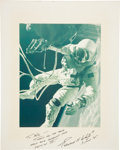 Autographs:Celebrities, Gemini 4: Ed White II Large Signed Color Spacewalk Photograph. ...