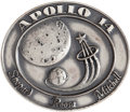 Explorers:Space Exploration, Apollo 14 Flown Silver Robbins Medallion Directly from the Personal Collection of Mission Support Crew Member William Pogue, S...