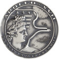Explorers:Space Exploration, Apollo 17 Flown Silver Robbins Medallion Directly from the PersonalCollection of Astronaut William Pogue, Serial Number F19, ...