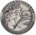 Explorers:Space Exploration, Apollo 17 Unflown Silver Robbins Medallion Directly from the Personal Collection of Astronaut William Pogue, Serial Number 241...