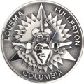 Explorers:Space Exploration, Space Shuttle Columbia (STS-3) Unflown Silver RobbinsMedallion Directly from the Personal Collection of Astronaut...