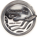 Explorers:Space Exploration, Space Shuttle Columbia (STS-2) Unflown Silver Robbins Medallion Directly from the Personal Collection of Astronaut...