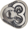 Explorers:Space Exploration, Skylab III (SL-4) Flown Silver Robbins Medallion Directly from the Personal Collection of Mission Pilot William Pogue, Serial ...