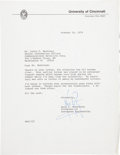 Autographs:Celebrities, Neil Armstrong Typed Letter Signed. ...