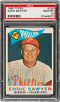 Baseball Cards:Singles (1960-1969), 1960 Topps Eddie Sawyer #226 PSA Gem Mint 10 - Pop One! ...