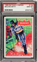 Non-Sport Cards:Singles (Post-1950), 1966 Topps Batman - Red Bat #12A PSA Gem MT 10 - Pop One of One!...