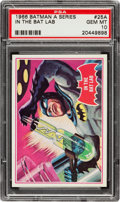 Non-Sport Cards:Singles (Post-1950), 1966 Topps Batman - Red Bat #25A PSA Gem MT 10 - Pop One of One!...