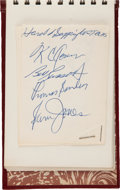 Basketball Collectibles:Others, 1962-63 Boston Celtics Team Signed Autograph Album--MostDuplicated....