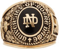Football Collectibles:Others, 1992 Notre Dame Class Ring. ...