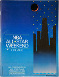Basketball Collectibles:Programs, 1988 NBA All Star Game Signed Program Michael Jordan Twice Signed....