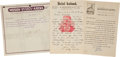 Boxing Collectibles:Autographs, Bill Madden, Jack Root and Jim Coffroth Boxing Signed Letters. ...