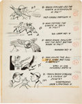 Baseball Cards:Sets, 1968 Topps Baseball Trivia Original Art Sheets (2). ...
