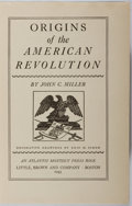 Books:Americana & American History, John C. Miller. Origins of the American Revolution. Little,Brown, 1943. First edition. Binding worn and dampsta...