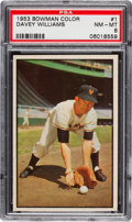 Baseball Cards:Singles (1950-1959), 1953 Bowman Color Davey Williams #1 PSA NM-MT 8....