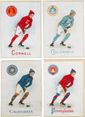 "Hockey Cards:Lots, 1910s S22 Murad ""Athlete and College Seal"" Silks (20) - All Hockey...."