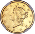 Gold Dollars, 1849-C G$1 Closed Wreath AU55 NGC....