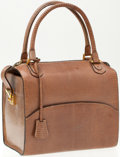 Luxury Accessories:Bags, Heritage Vintage: Fine Italian Beige Lizard Top Handle Bag. ...
