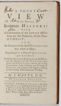 Books:Religion & Theology, I. Watts. A Short View of the Whole Scripture History. T.Longman, 1751. Fourth edition. Twelvemo. Contemporary full...