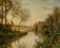 Fine Art - Painting, American, LOUIS ASTON KNIGHT (American, 1873-1948). Garden on the Oize,Melleville. Oil on canvas. 26 x 32 inches (66.0 x 81.3 cm)...