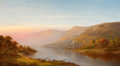 Fine Art - Painting, American:Antique  (Pre 1900), CHARLES W. KNAPP (American, 1823-1900). Mountain River Scene(Autumn of the Hudson), 1870. Oil on canvas. 28 x 50 inches...