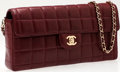 Luxury Accessories:Bags, Heritage Vintage: Chanel Bordeaux Lambskin Leather Quilted SingleFlap Bag with Gold Hardware. ...