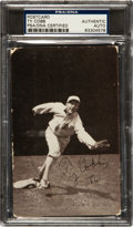 Baseball Cards:Singles (Pre-1930), Signed 1907 PC765 Dietsche Post Card Ty Cobb, Fielding PSA/DNAAuthentic. ...