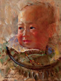 Impressionism & Modernism:post-Impressionism, ZHIWEI TU (Chinese, b. 1951). Boy With Bright Eyes, 2012.Oil on canvas. 16 x 12 inches (40.6 x 30.5 cm). Signed, dated,...
