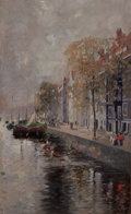 Fine Art - Painting, European:Antique  (Pre 1900), FRIEDRICH STAHL (German, 1863-1940). Amsterdam, 1891. Oil onwood panel. 14-3/4 x 9-1/4 inches (37.5 x 23.5 cm). Signed ...