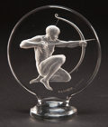 Art Glass:Lalique, R. LALIQUE CLEAR AND FROSTED GLASS ARCHER MASCOT . Circa1926. Molded: R. LALIQUE . Engraved and wheel carved: ...