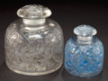 Art Glass:Lalique, TWO R. LALIQUE CLEAR GLASS EPINES PERFUME BOTTLES . Circa1920. Molded: R. LALIQUE . Engraved: France, 648, 48... (Total:2 Items)