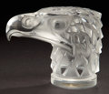 Art Glass:Lalique, LALIQUE CLEAR AND FROSTED GLASS TETE D'AIGLE MASCOT . Post1945. Molded: R. LALIQUE. 4-3/8 inches high (11.0 cm)...