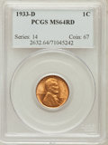 Lincoln Cents: , 1933-D 1C MS64 Red PCGS. PCGS Population (419/1023). NGC Census:(302/1258). Mintage: 6,200,000. Numismedia Wsl. Price for ...