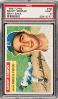 Baseball Cards:Singles (1950-1959), 1956 Topps Sandy Koufax #79 PSA Mint 9 - One of Two! ...