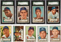 Baseball Cards:Sets, 1952 Topps Baseball Collection (73) With Over 20 High Numbers. ...