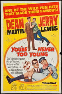 """You're Never Too Young and Other Lot (Paramount, R-1964). One Sheets (2) (27"""" X 41"""") and Lobby Cards (4) (11&q..."""