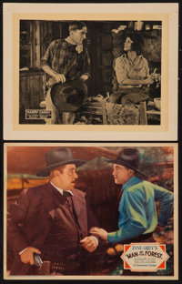 "Man of the Forest & Other Lot (Paramount, 1933). Lobby Cards (2) (11"" X 14""). Western. ... (Total: 2 Items..."
