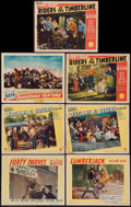 """Movie Posters:Western, Forty Thieves & Others Lot (United Artists, 1944). Lobby Cards (7) (11"""" X 14""""). Western.. ... (Total: 7 Items)"""