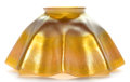 Art Glass:Tiffany , TIFFANY STUDIOS FAVRILE GLASS SHADE . Gold Favrile glass shade withruffled edge, circa 1900. Engraved: LCT. 3-3/4 inche...