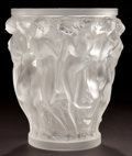 Art Glass:Lalique, LALIQUE CLEAR AND FROSTED GLASS BACCHANTES VASE . Circa1960. Stenciled: R. LALIQUE . 9-1/2 inches high (24.1 cm...