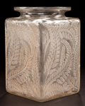 Art Glass:Lalique, R. LALIQUE CLEAR GLASS MYRRHIS VASE WITH SEPIA PATINA .Circa 1926. Stenciled: R. LALIQUE . Engraved: France, ...
