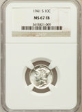 Mercury Dimes: , 1941-S 10C MS67 Full Bands NGC. NGC Census: (328/6). PCGSPopulation (291/5). Mintage: 43,090,000. Numismedia Wsl. Pricefo...