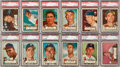 Baseball Cards:Lots, 1952 Topps Baseball PSA Graded High Number Collection (36). ...