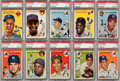 Baseball Cards:Lots, 1954 Topps Baseball PSA Graded Collection (28) With Stars. ...