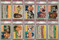 Baseball Cards:Lots, 1956 Topps Baseball PSA Graded Collection (33) With Many Stars. ...