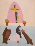 Fine Art - Painting, American:Modern  (1900 1949)  , MILTON AVERY (American, 1893-1965). Crucifixion, 1946. Oilon canvas. 44 x 34 inches (111.8 x 86.4 cm). Signed and dated...