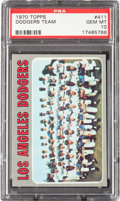 Baseball Cards:Singles (1970-Now), 1970 Topps Dodgers Team #411 PSA Gem Mint 10....