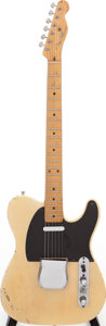 Musical Instruments:Electric Guitars, 1954 Fender Telecaster Blonde Solid Body Electric Guitar, Serial #6708....