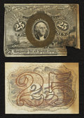 Fractional Currency:Second Issue, Fr. 1283SP 25¢ Second Issue Narrow Margin Pair New.. ... (Total: 2 notes)