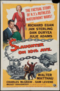 "Movie Posters:Crime, Slaughter on 10th Avenue (Universal International, 1957). One Sheet (27"" X 41""). Crime.. ..."